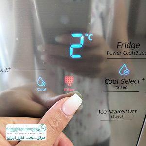 چگونه چراغ فیلتر یخچال سامسونگ را خاموش کنیم؟