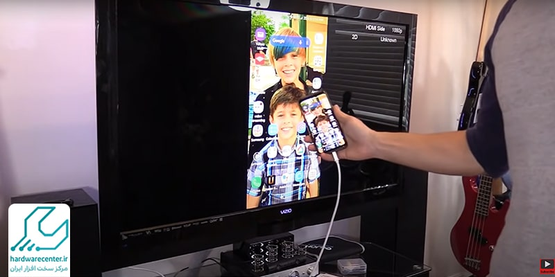اتصال گوشی سامسونگ به تلویزیون با کابل